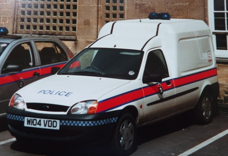 Ford Fiesta van Divisional  Firearms Licencing Enquiry Officer 2000 (Gloucestershire Police Archives URN 3688 )