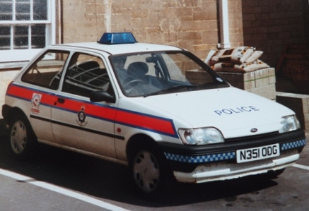 Ford Fiesta at Cirencester Police Station 1996 (Gloucestershire Police Archives URN 3689 )