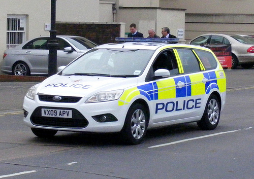 Ford Focus Incident Response Vehicle Cheltenham 2009 (Gloucestershire Police Archives URN 3694)