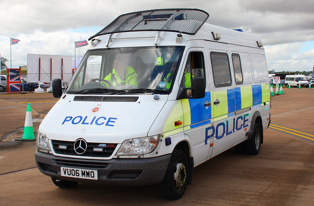 Mercedes Sprinter Police Support Unit  Fairford 2008 (Gloucestershire Police Archives URN 3714)