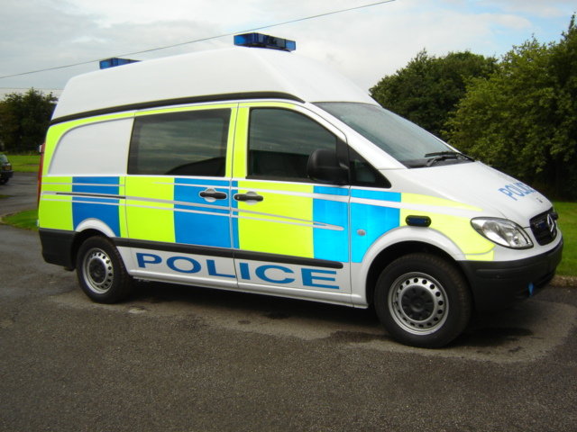 Mercedes Vito Divisional Prisoner Transport Van 2009. (Gloucestershire Police Archives URN 3718)