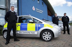 Mitsubishi Colt Safer Communities Team 2011. (Gloucestershire Police Archives URN 3720)