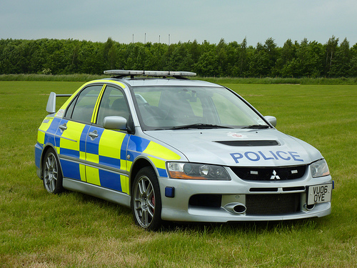 Mitsubishi Lancer Evolution IX, Roads Policing Unit/Automatic Number Plate Recognition 2006. (Gloucestershire Police Archives URN 3722)
