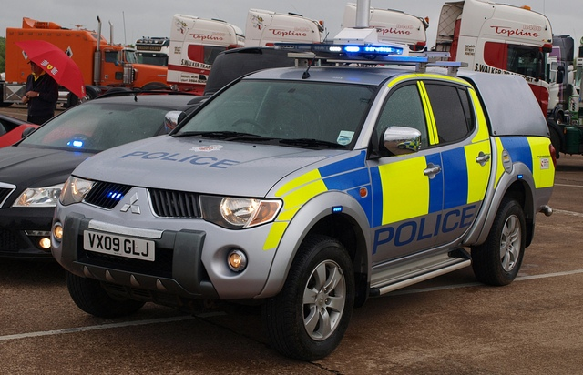 Mitsubishi L200 Operation Support Vehicle with scene lighting 2009. (Gloucestershire Police Archives URN 3723  )