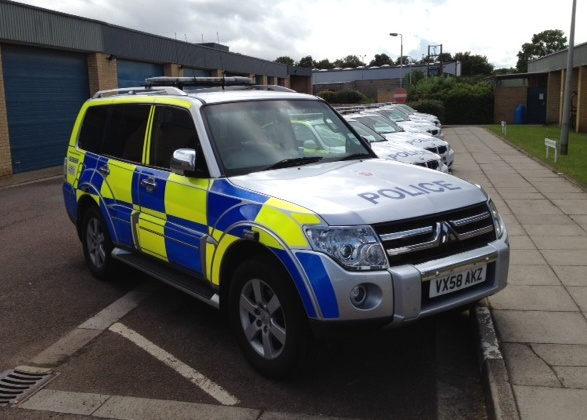 Mitsubishi Shogun, Roads Policing Unit 2008. (Gloucestershire Police Archives URN 3724)