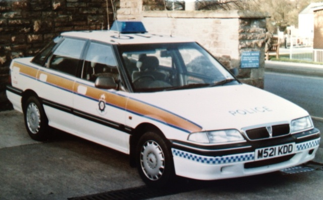 Rover 214, Incident Response Vehicle Lydney 1994. (Gloucestershire Police Archives URN 2736)