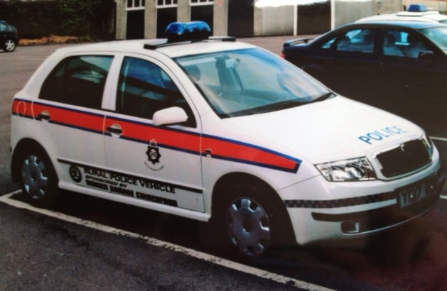 Skoda Felicia Rural Beat Vehicle Coleford 2001.(Gloucestershire Police Archives URN 3740 )