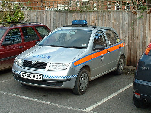 Skoda Felicia Rural Beat Vehicle Stonehouse 2000. (Gloucestershire Police Archives URN 3741)