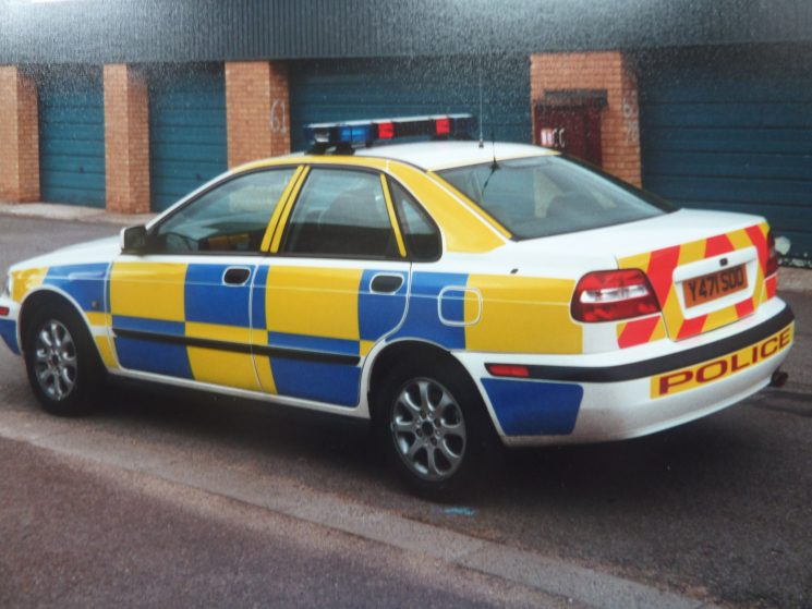Volvo S40  T4, Gloucester and Cheltenham Divisions Traffic Car 2001. (Gloucestershire Police Archives URN 3757)