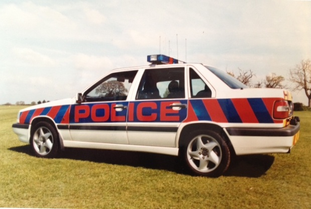 Volvo S70 T6, Motorway and Armed Response vehicle 1996. (Gloucestershire Police Archives URN 3758 )