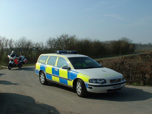 Volvo V70, Motorway and Armed Response Vehicle , 2002. (Gloucestershire Police Archives URN 3761 )