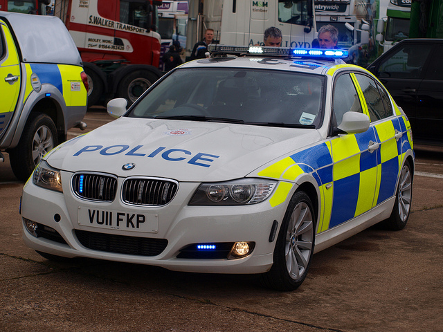 BMW 3 Series Roads Police Unit 2011 (Gloucestershire Police Archives URN 6068)