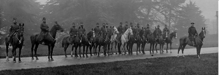 Gloucestershire Constabulary mounted section circa 1900. (Gloucestershire Police Archives URN 38)