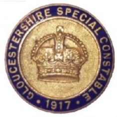 Special Constable's badge 1917 (Gloucestershire Police Archives URN 6109)