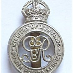 First World War hat badge from the Women's Police Service Ministry of Munitions . (Gloucestershire Police Archives URN 6101)