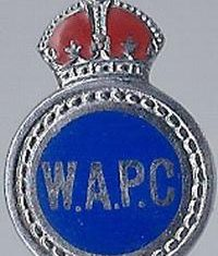 Women's Auxiliary Police Corps badge. The Women's Auxiliary Police Corps was formed in 1939, and its members were afforded no police powers, but employed to take on clerical and driving duties. When the Corps was disbanded in 1946 many of its members applied to join the regular police force. (Gloucestershire Police Archives URN 6105)