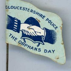 Flag from Police Orphans day (Gloucestershire Police Archives URN 6102)