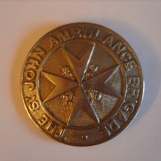 St John Ambulance Brigade first aid badge as worn by Sergeant 180 Ryland. (Gloucestershire Police Archives URN 6107)