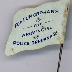 Back of flag from Police Orphans day (Gloucestershire Police Archives URN 6103)