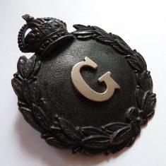 Black helmet Plate 1902-1937 (Gloucestershire Police Archives URN 6114)
