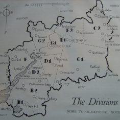 Map of divisions date unknown (Gloucestershire Police Archives URN 6117)