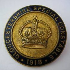 Special Constabulary badge 1918 (Gloucestershire Police Archives URN 6118)