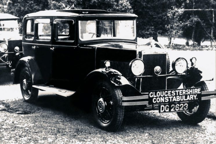 Gloucestershire Constabulary Morris 6  in the 1930s (Gloucestershire Police Archives URN 2391) | Photograph from an old negative. Thank you to the anonymous editor.