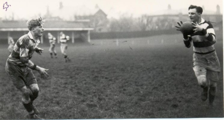 Rugby football match Police Constables R. Price and G. Hodder (Gloucestershire Police Archives URN 1324)