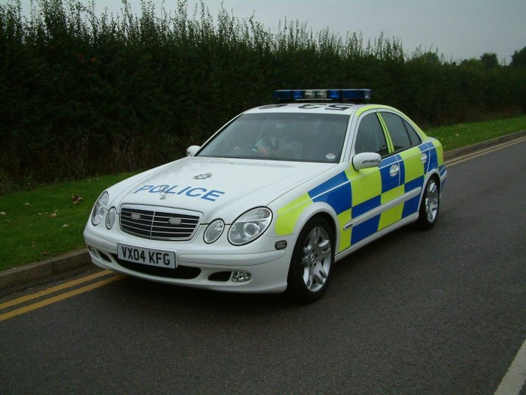 Mercedes E320 Motorway patrol car 2004 (Gloucestershire Police Archives URN 6871) | Photograph from Simon Edwards