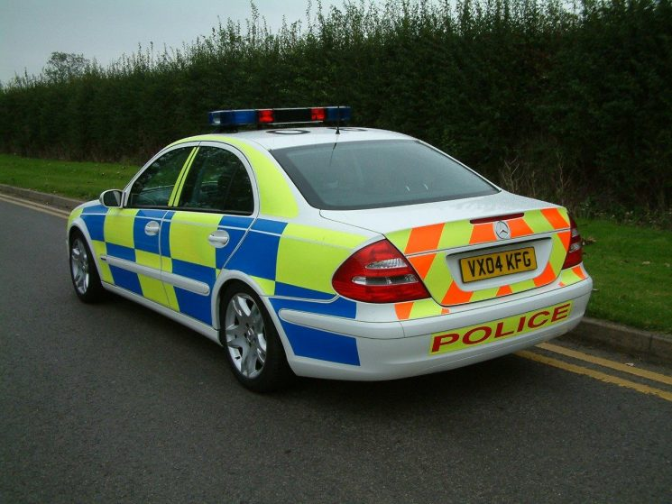 Mercedes E320 Motorway patrol car 2004 (Gloucestershire Police Archives URN 6872) | Photograph from Simon Edwards