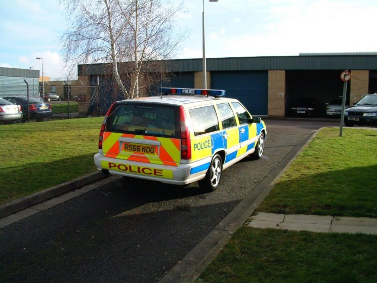 Volvo V70 T5 Accident Investigation car from 2003, all kitted up and ready to go to a collision. (Gloucestershire Police Archives URN 6873) | Photograph from Simon Edwards