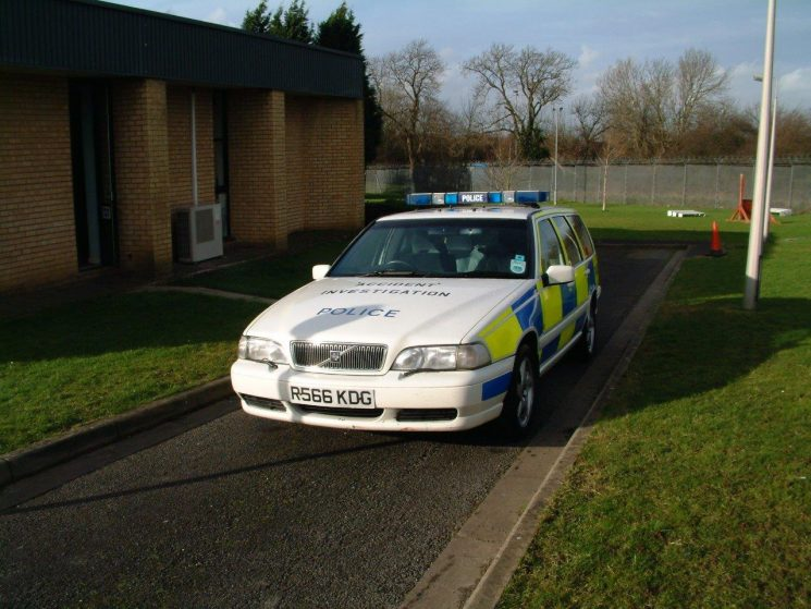 Volvo V70 T5 Accident Investigation car from 2003, all kitted up and ready to go to a collision. (Gloucestershire Police Archives URN 6874) | Photograph from Simon Edwards