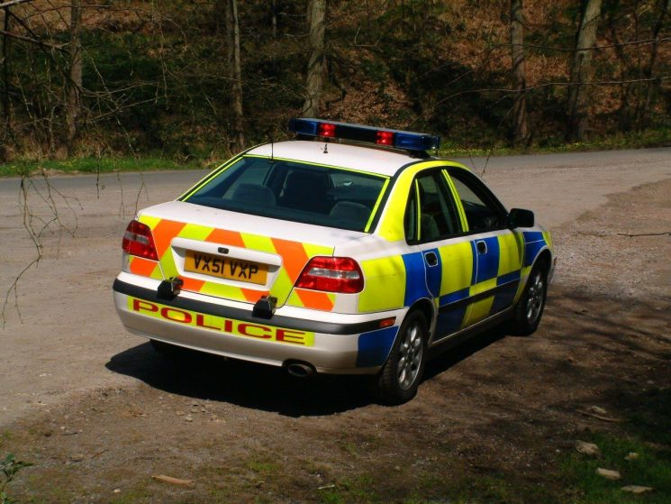 Volvo S40 T4 Forest traffic car 2001 (Gloucestershire Police Archives URN 6876) | Photograph from Simon Edwards