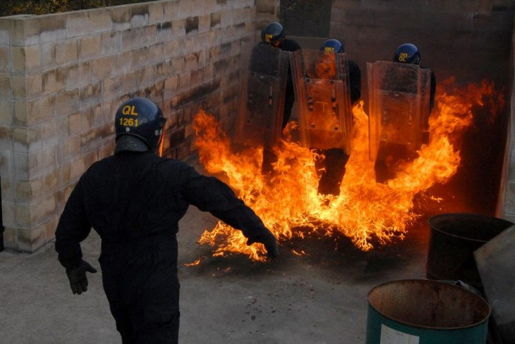 Riot Training 2010 (Gloucestershire Police Archives URN 6878) | Photograph from Simon Edwards