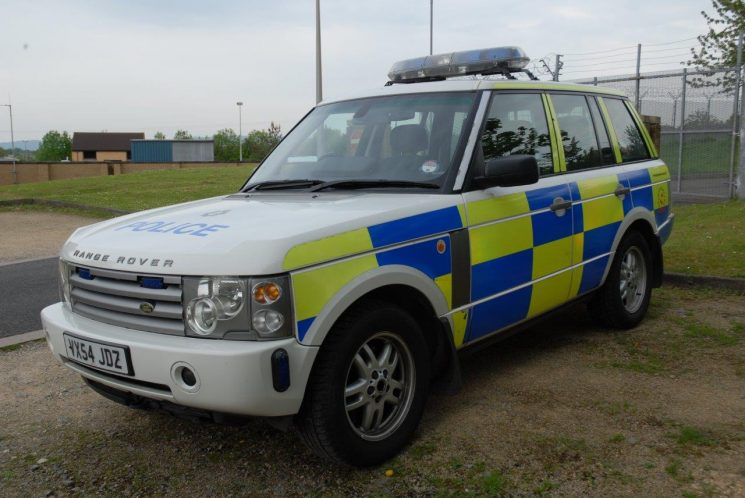 Range Rover  motorway patrol car from 2008 (Gloucestershire Police Archives URN 6888) | Photograph from Simon Edwards