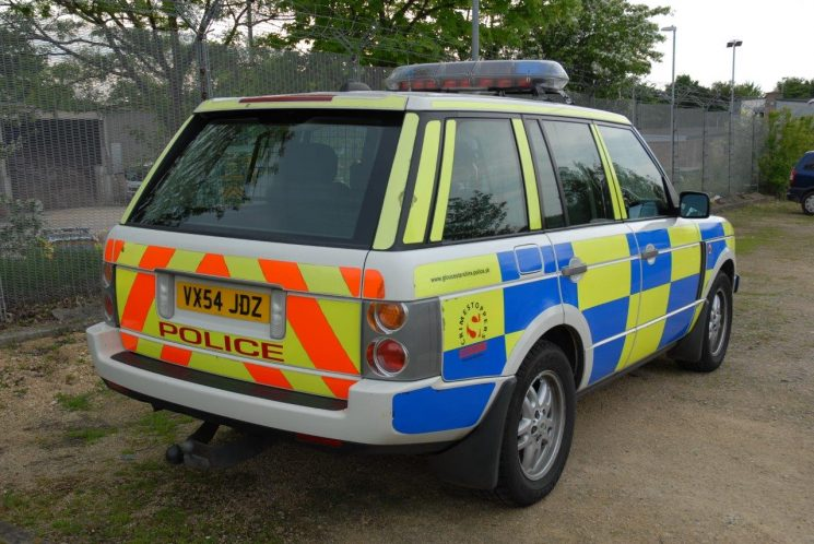 Range Rover  motorway patrol car from 2008 (Gloucestershire Police Archives URN 6889) | Photograph from Simon Edwards