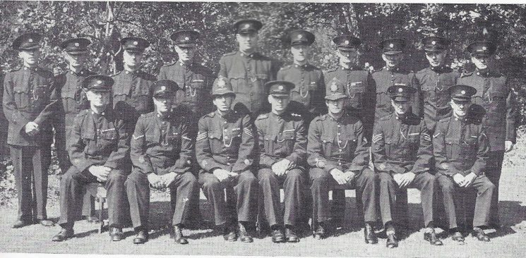 Thornbury Division Charfield Section. Back Row: Special Constables Wathen, Downs, Durn, White, Cornock, Benson, Colborn, Champion, Ilees, Goscombe S. Front Row: Special Constable Bryant, Head Special Constable Goscombe W.T, Police Sergeant Auger, Specail Inspector Brewer, Police Constabe Attwood, Special Sergeant Keynton, Head Special Constable Reynolds. (Gloucestershire Police Archives URN 6961)