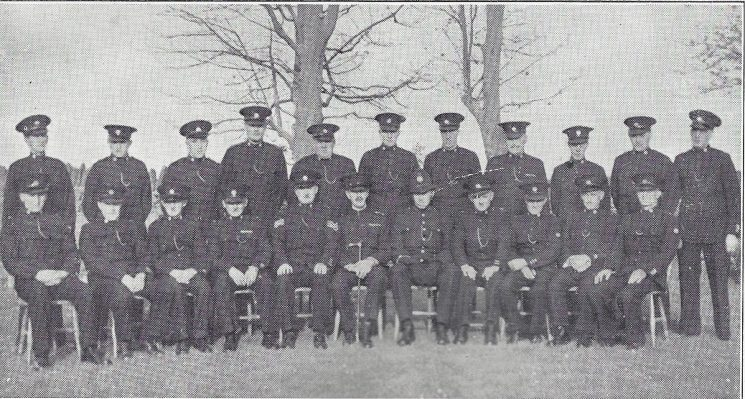 Thornbury Division Winterbourne Section Back Row: Special Constables Telling, Meaden, Thompson, Keats, Turner, Harford, Jefferis, Jarvis, Maggs, Cook, Maggs G.G. Seated: Special Constables Player, Fellows, Jones, Tilley, Police Sergeant Smart, Special Inspector Walker, Police Constable Chew, Head Special Constable Ware, Special Constables Collett, Cane, Smith (Gloucestershire Police Archives URN 6976)