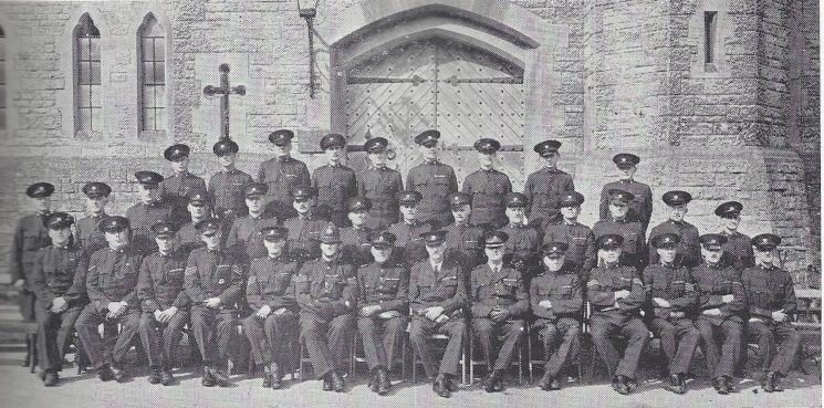 Cirencester Division Cirencester Subsection Back Row: Head Special Constable Derry, Special Constables Russell, Collis, Satherley, Gooderham, Lafford, New, Weaver H, Head Special Constable Pugh. Middle Row: Special Constables Bowcock, Farrell W, Wager, Carter, Riggal, Head Special Constable Ryman Special Constables Trowbridge, Higgs, Strange, Hanman, Head Special Constable Long, Special Constables Venus, Farrell C, Head Special Constable Clapham. Seated: Special Constable Davies, Head Special Constable Boulton, Special Constable Weaver R, Special Sergeants Turner, Kinns, Police Sergeant Howkins, Inspector Newman, Special Superintendent Paley, Superintendent Jotcham, Special Inspector Gouldsmith, Special Sergeants Spencer, DeFreville, Head Special Constable Barker Special Constable Wainwright. (Gloucestershire Police Archives URN 6984)