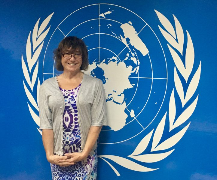 United Nations Macedonia Bee Bailey at The Office of the United Nations Macedonia, representing the U.K. in her role of Ambassador for Trans Progression for the European LGBT Police Association meeting Western Balkans Leads and Government Officials to progress Trans in Region. (Gloucestershire Police Archives URN 7819)