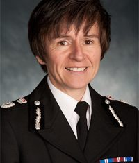 Suzette Davenport. First Woman Chief Constable Gloucestershire Police 2013.