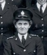 Elizabeth Hughes. First Woman Inspector 1963, Chief Inspector 1967 , Superintendent 1972 in Gloucestershire Police. (Gloucestershire Police Archives URN 8970)