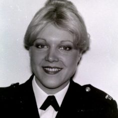 Ros Edwards. Thought to be the first woman on Gloucestershire Police Traffic Department 1977. (Gloucestershire Police Archives URN 8971)