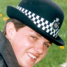 Cindy Purnell. First woman in Gloucestershire Police Dog Section . 1st October 1990.