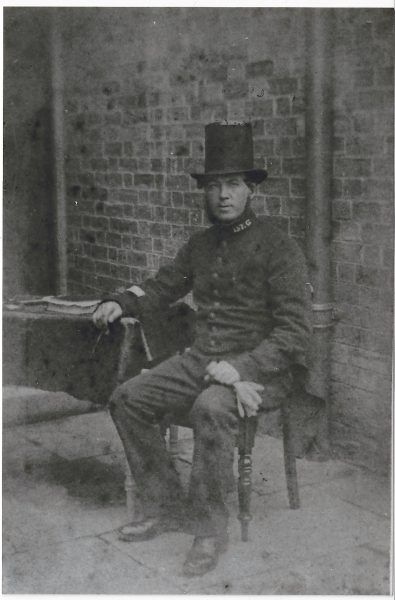 Charles Mason 157 in stovepipe hat. (Gloucestershire Police Archives URN 7883) | Photograph from Terry Bowley