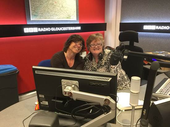 Bee Bailey and Anna King, Radio Gloucestershire presenter. On Tuesday 8/5/2018 The National Trans Police Association (NTPA), The European LGBT Police Association (EGPA) and the value of staff support associations was discussed on BBC Radio Gloucestershire. (Gloucestershire Police Archives URN 7890)