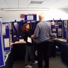 One of the team being interviewed by Radio Gloucestershire at the Family History Day 2013. (Gloucestershire Police Archives URN 7978)