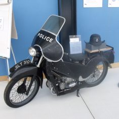 The motorbike on display. (Gloucestershire Police Archives URN 7981)