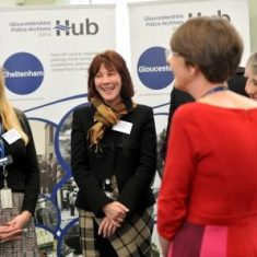 The opening of the Heritage Hub by Her Royal Highness the Princess Royal on Tuesday 8th January 2019. Her Royal Highness talks to the Constabulary team. (Gloucestershire Police Archives URN 8901) | Photograph from Mikal Ludlow Photography