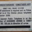 Coney Hill Police Station Information Sign